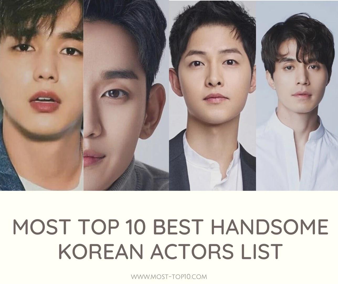 Korean actors best List of