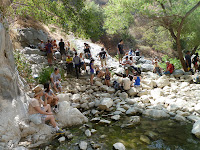 Crowd at Fish Canyon Falls