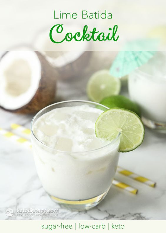 Low-Carb Lime Batida Cocktail