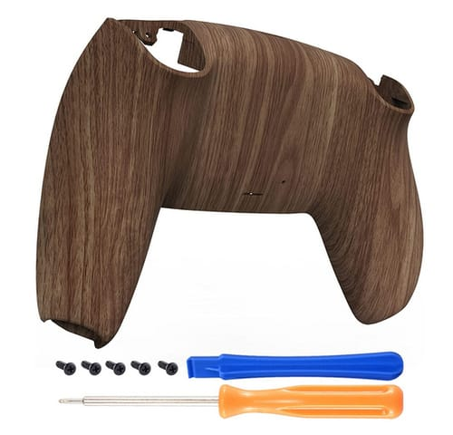 eXtremeRate Wood Grain Pattern Shell for PS5 Controller