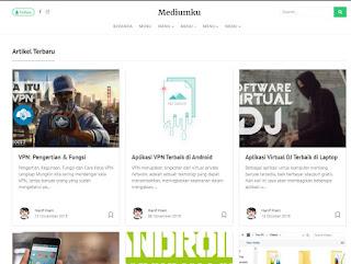 download template blogger terbaik mirip medium