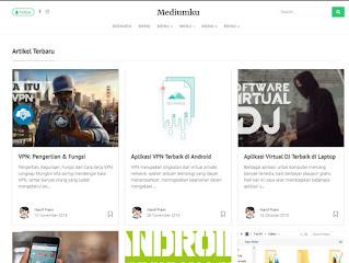 Download Template Blogger Mirip Medium Wordpress