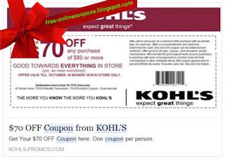 Free Printable Kohl's Coupons