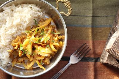 oignons cuits a l'indienne