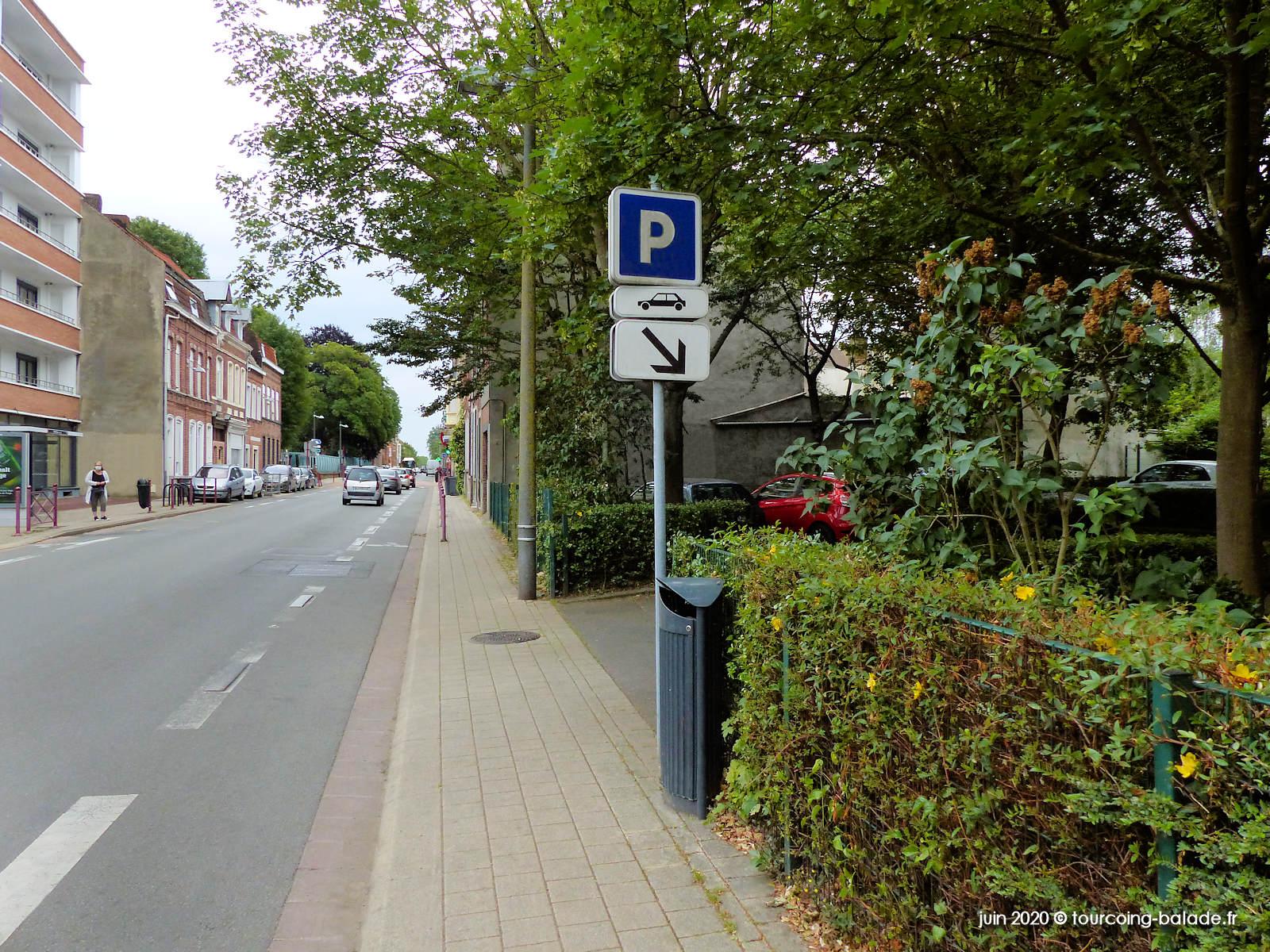 Rue de Roubaix, Parking, Tourcoing 2020