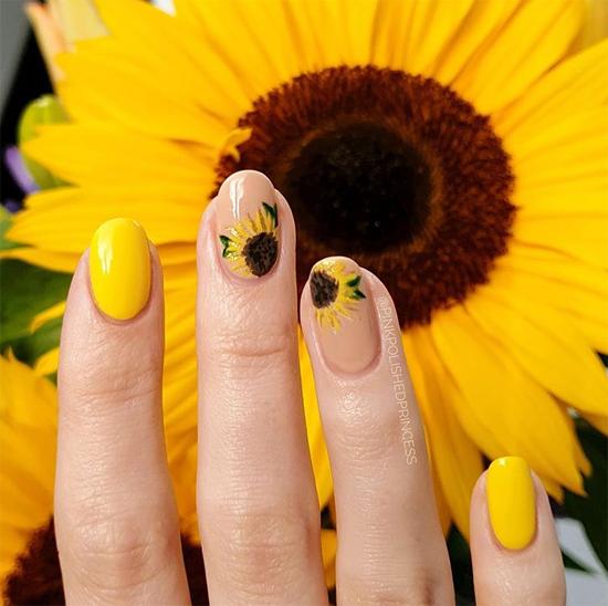 дизайн ногтей подсолнухи фото объявления
