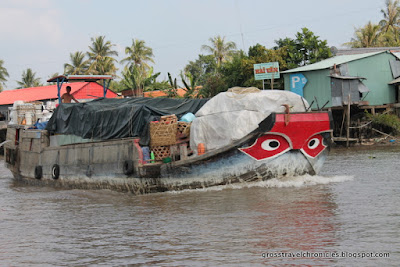 eyes painted on front of boat