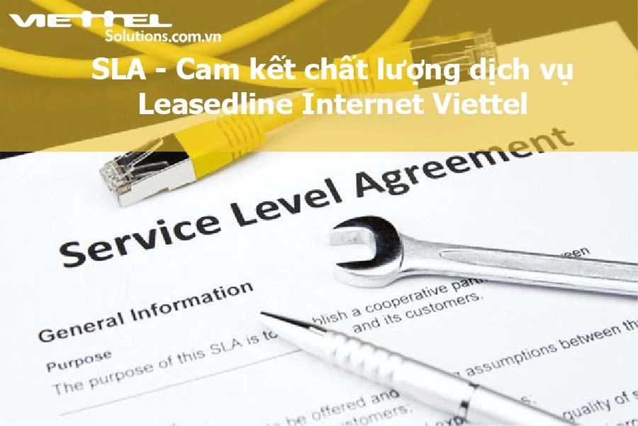 Ảnh minh họa: Cam kết chất lượng dịch vụ Leasedline Internet Viettel