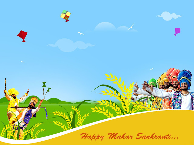Makar Sankranti HD greetings for Whatsapp