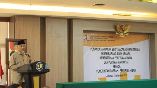 Lagi, Pemko Padang Terima Aset Hibah BMN Senilai 46 Miliar