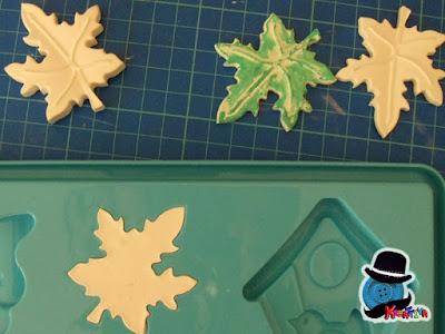 foglie di gesso ceramico