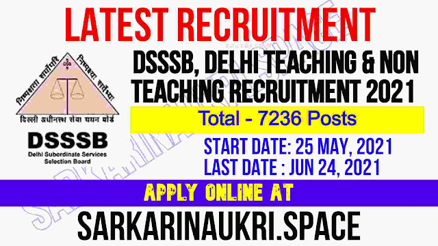 DSSSB, Delhi Recruitment 2021