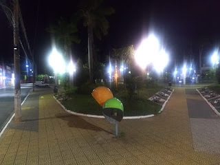 Praça da Bandeira vazia durante a quarentena