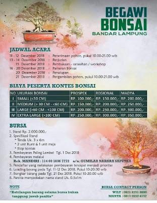 Brosur Kontes Bonsai  2018 Lampung
