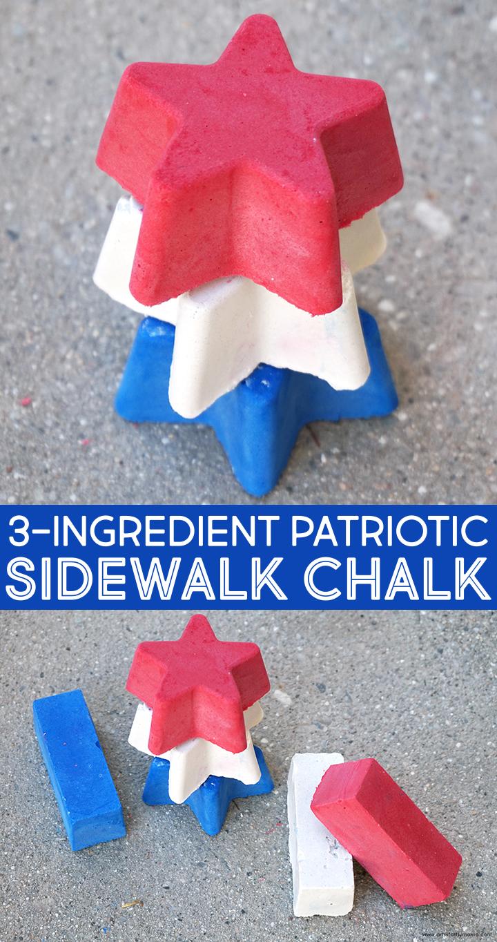 3-Ingredient Patriotic Sidewalk Chalk