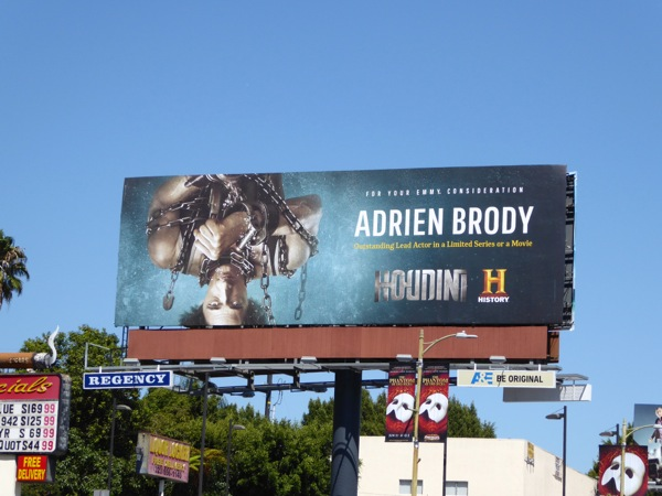 Adrien Brody Houdini 2015 Emmy nomination billboard