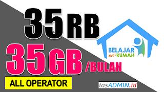 Penyalyran gratis kuota internet 35GB atau pulsa 35RB