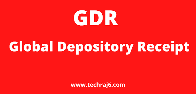 GDR full form, What is the full form of GDR