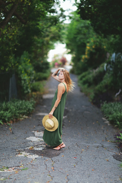 maxidress and straw hat | Virgin Island  {Cool Chic Style Fashion}