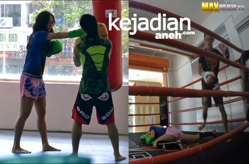 Petarung Cantik Kalahkan Tiga Pelatih Kick Boxing