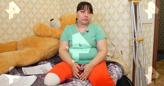 Женщина лишилась ноги из-за раковой опухоли, которую не заметили врачи