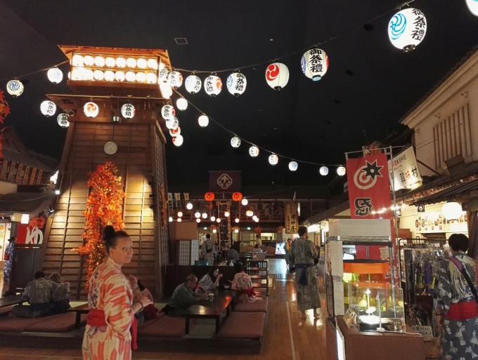 Kylpeminen onsenissa - kokemuksia Tokiossa / Oedo onsen monogatari Odaiba