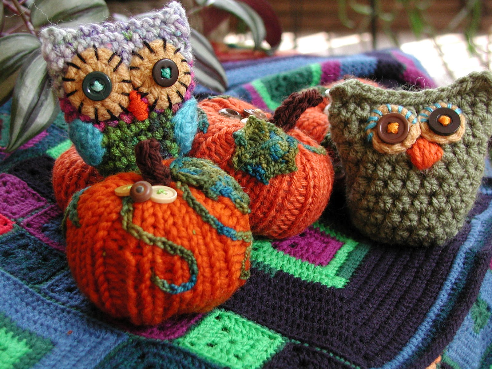 pumpkin patch??? OMG...idea...sewing little patches on the pumpkins ...
