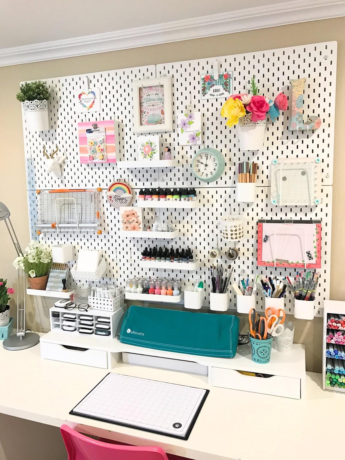 Craft Room Organization Makeover Ikea Skadis Pegboard