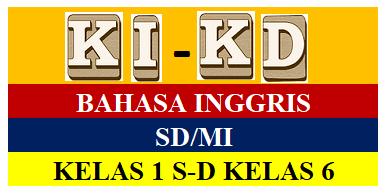 Kompetensi Inti (KI) dan Kompetensi Dasar Bahasa Inggris SD/MI
