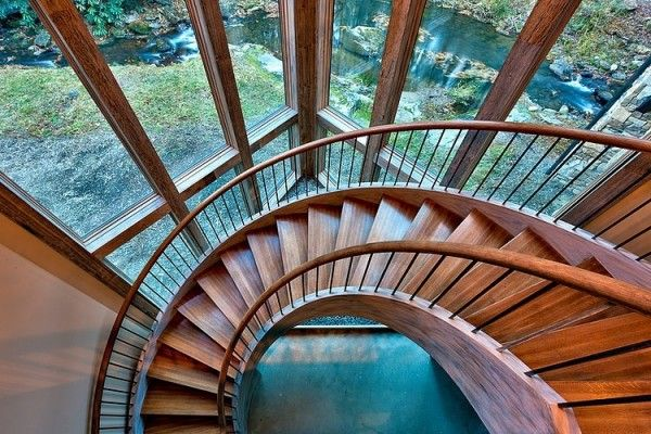 Wooden spiral stair designs