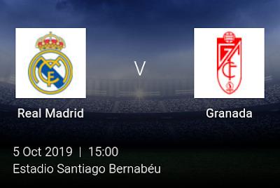 LIVE MATCH: Real Madrid Vs Granada Spanish Laliga 05/10/2019