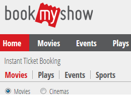 BookMyShow coupon - offer