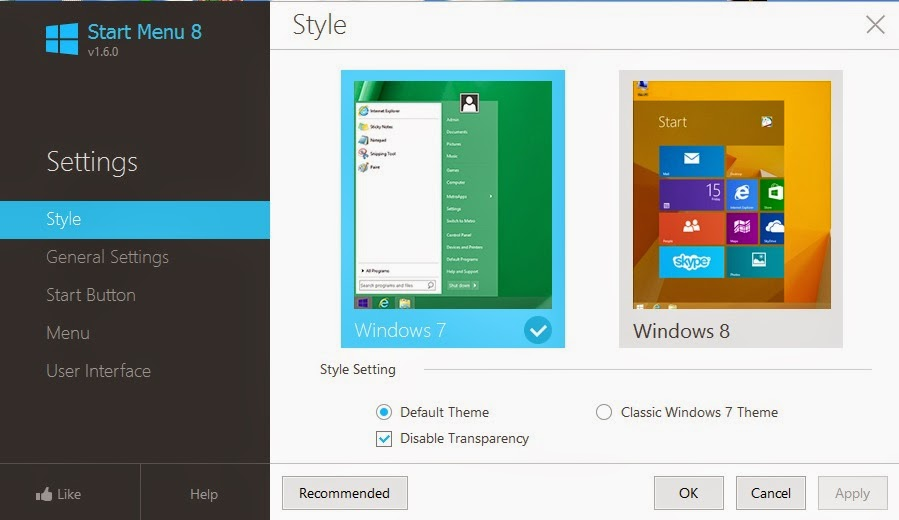 Start menu in windows 8 or 8.1