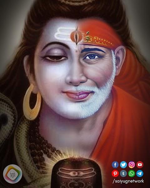 Shivratri Wallpaper - Shiv - Sai Baba Faces