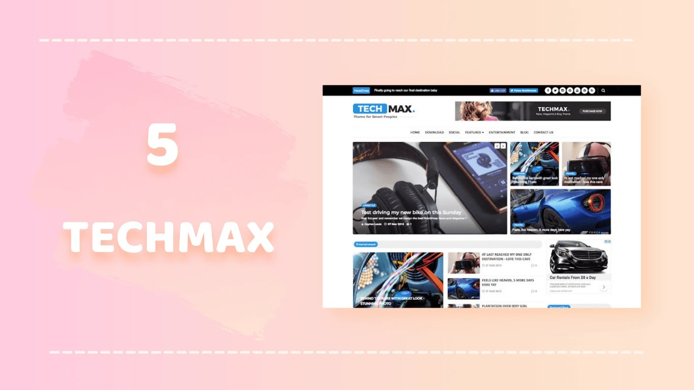 Techmax free blogger template thetechbook