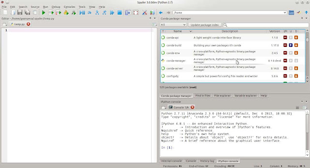 Spyder Python workspace