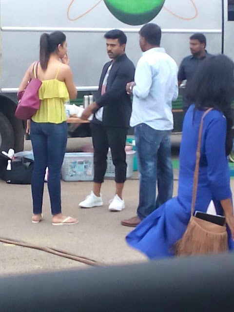 Ram charan, Rakul preet singh Dhruva movie on location photo