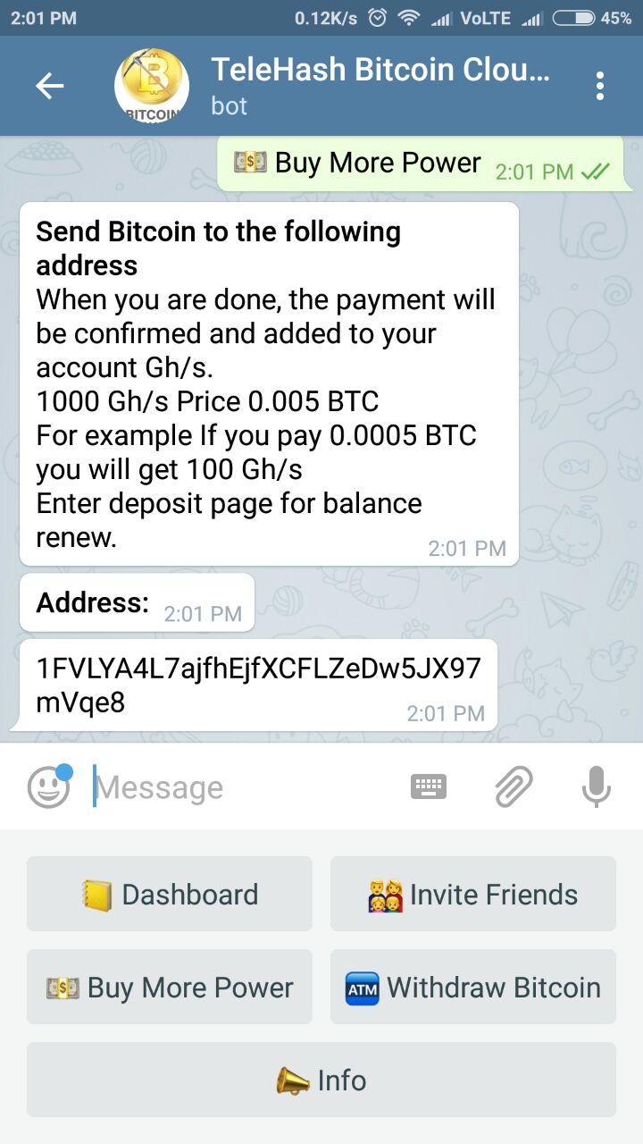 Bitcoin mining bot telegram legit - Bar du coin st-jerome quote