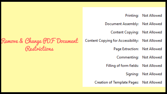 How to Change PDF Document Restrictions – Step by Step Solution