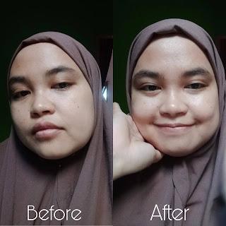 before after serum scarlett glowtening , serum glowing,