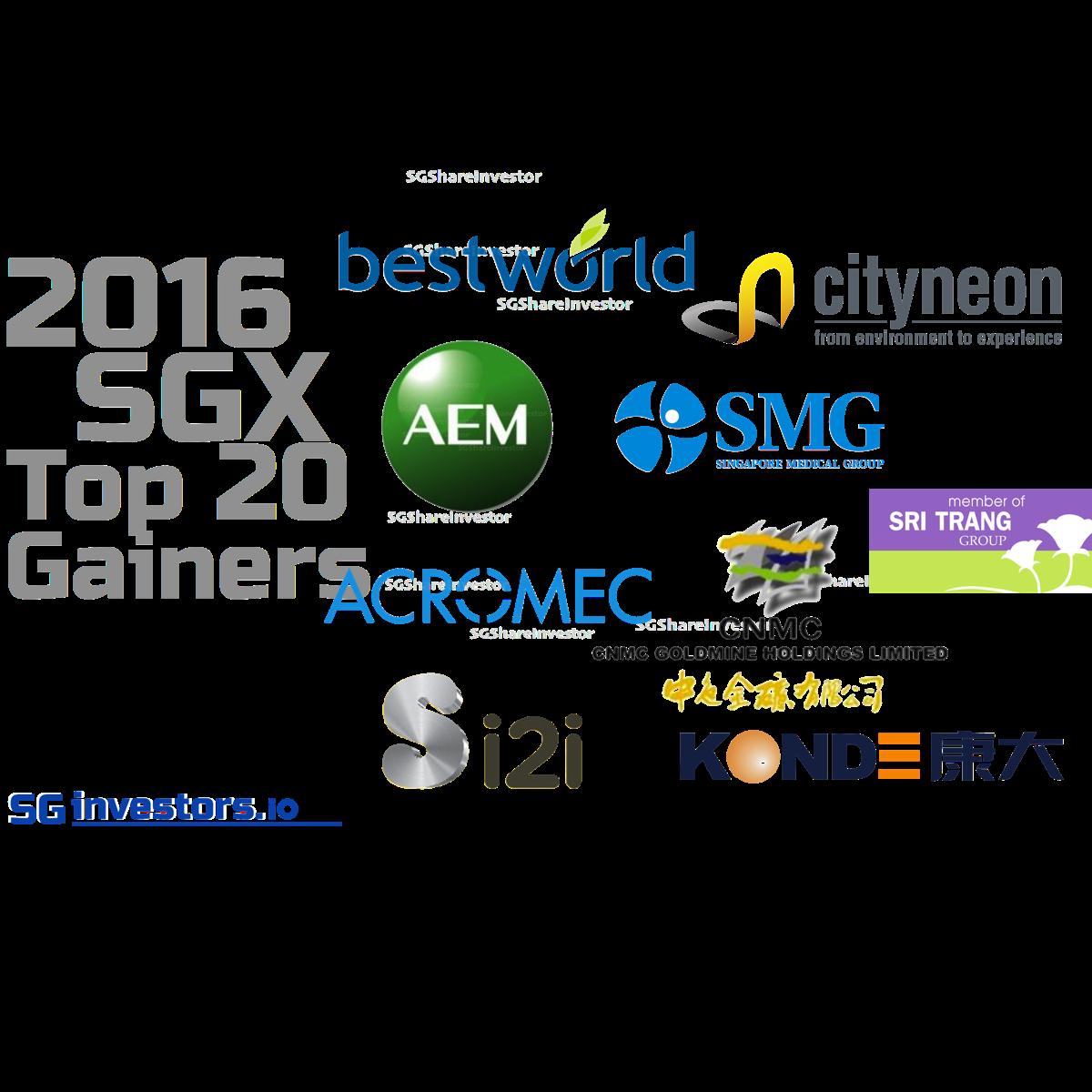 2016 SGX Top 20 Performers @ SGinvestors.io