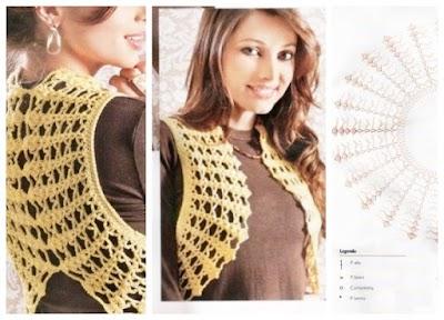 Patron Crochet Chaleco 2 Semicirculos
