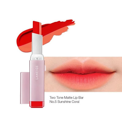 Review Laneige Two Tone Matte Lip Balm Sunshine Coral No 5