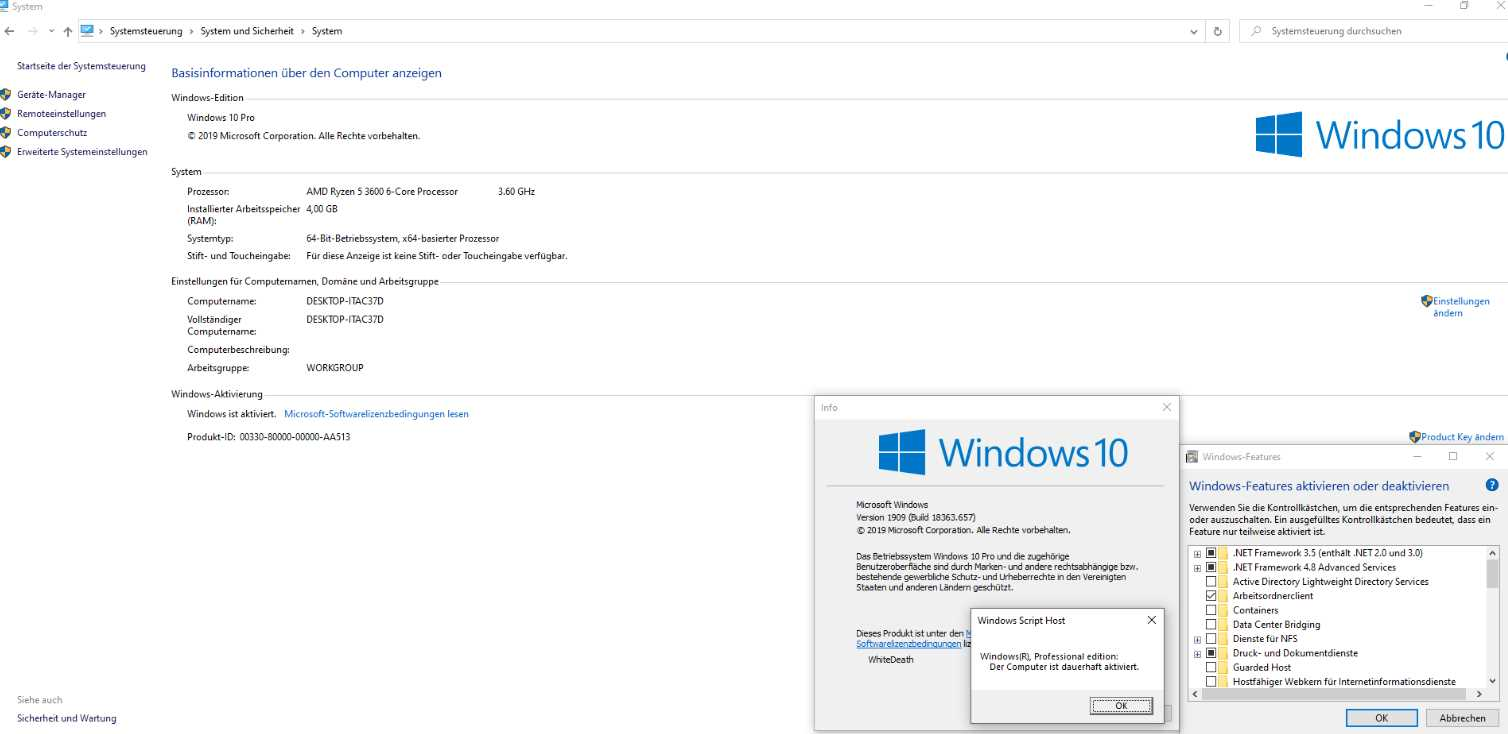 Windows 10 19H2 1909.10.0.18363.657 poster box cover