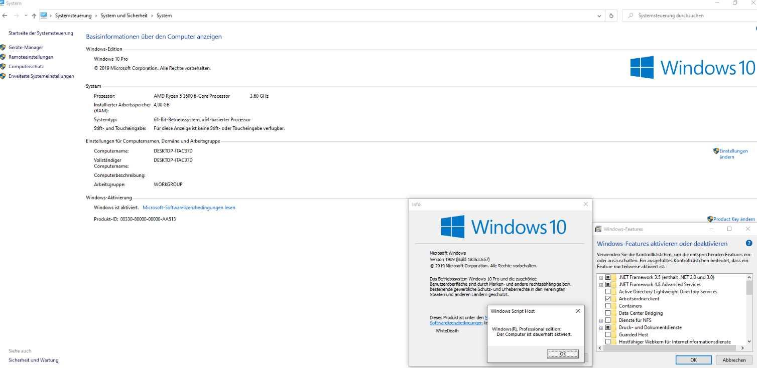 Windows 10 19H2 1909.10.0.18363.657 poster box cover