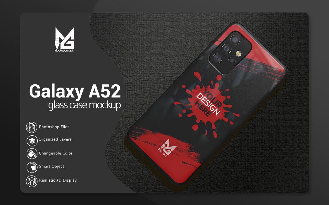 Mockup Glass Case Samsung Galaxy A52