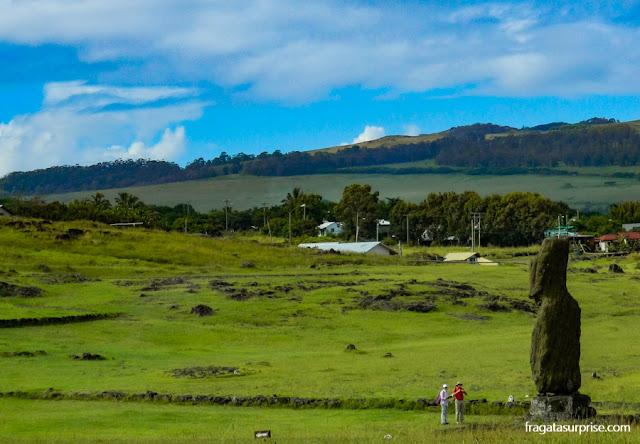 Moai (estátua de pedra) da Ilha de Páscoa