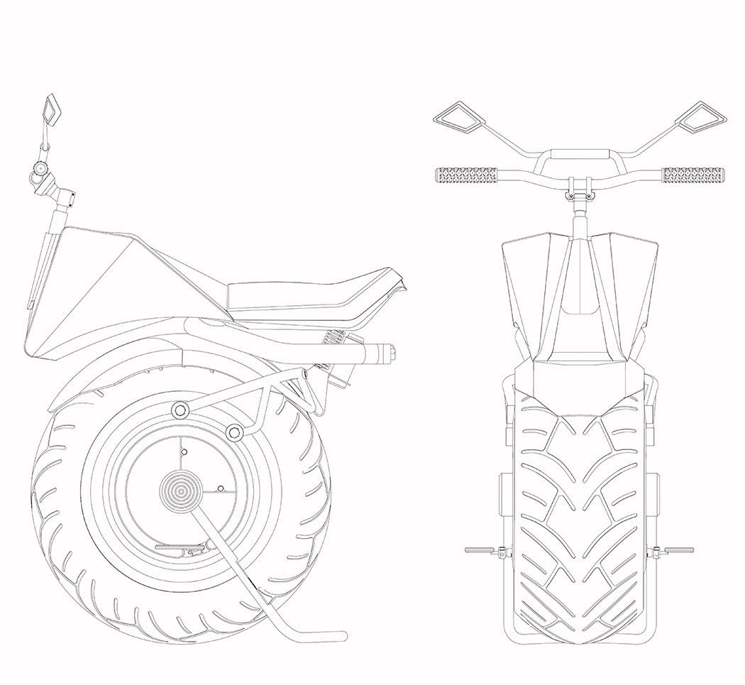 Konsep Motosikal Separuh