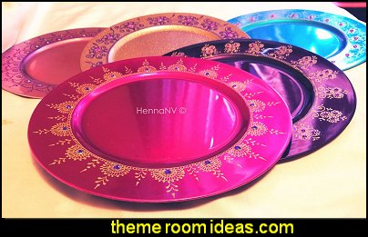 Henna Plates Henna Tealights   moroccan decor arabian nights decor