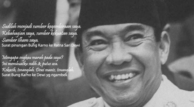tips PDKT cara menaklukkan wanita ala Soekarno